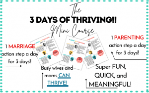 3 days of thriving