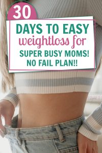 busy moms can lose weight