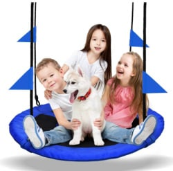 saucer swing for energetic toddler boy