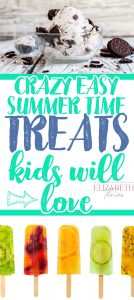 summer time treats for kids