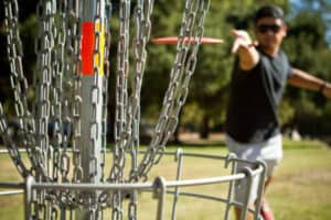 disc golf in the fall for teens